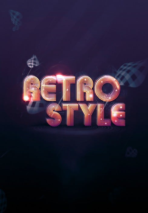 retro font flatten 489x700 Create Abstract Shining Text Effect with Groovy Font in Photoshop
