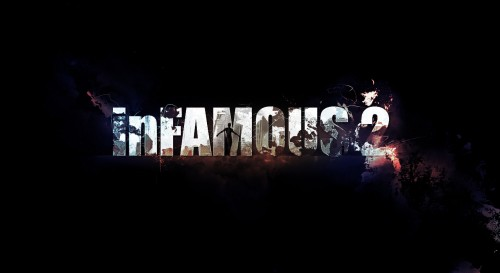 infamous2 text flatten 500x273 Popular Photoshop Tutorial In 2012